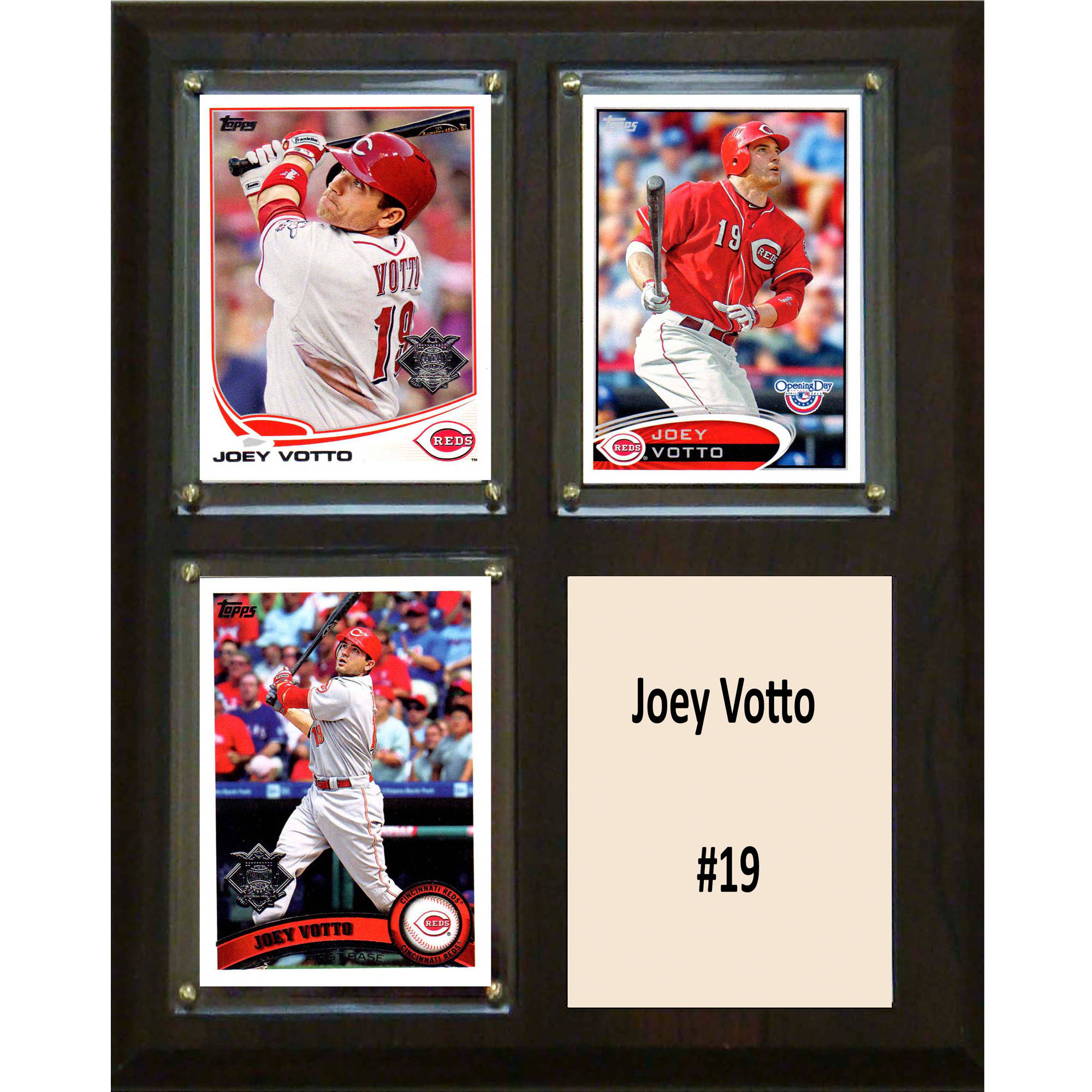 C&I Collectables MLB 8x10 Joey Votto Cincinnati Reds 3-Card Plaque