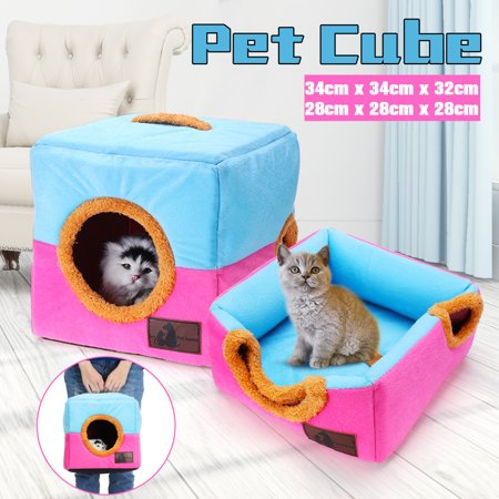 Cat Form (Two Forms Cat Cube Cave Nest For Small Pets Dog Cat Bed House Portable Indoor Play)