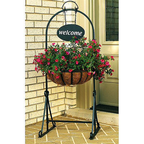 Welcome Garden Planter, Black
