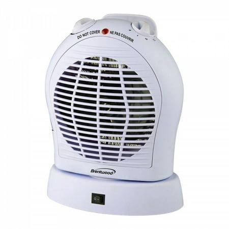 Brentwood Appliances HF303W Brentwood 2-in-1 Heater/fan White
