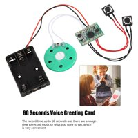 FAGINEY 60-second Recording Playback DIY Voice Greeting Card Module Cable Extened 10CM , 60-second Recording Voice Greeting Card Module, Voice Greeting Card Module