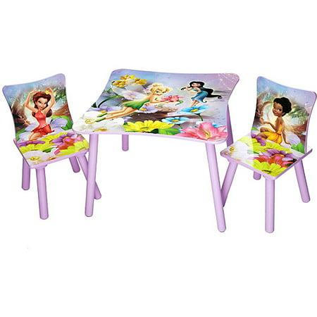 Disney Tinkerbell Fairies Table And Chair Set Walmart Com