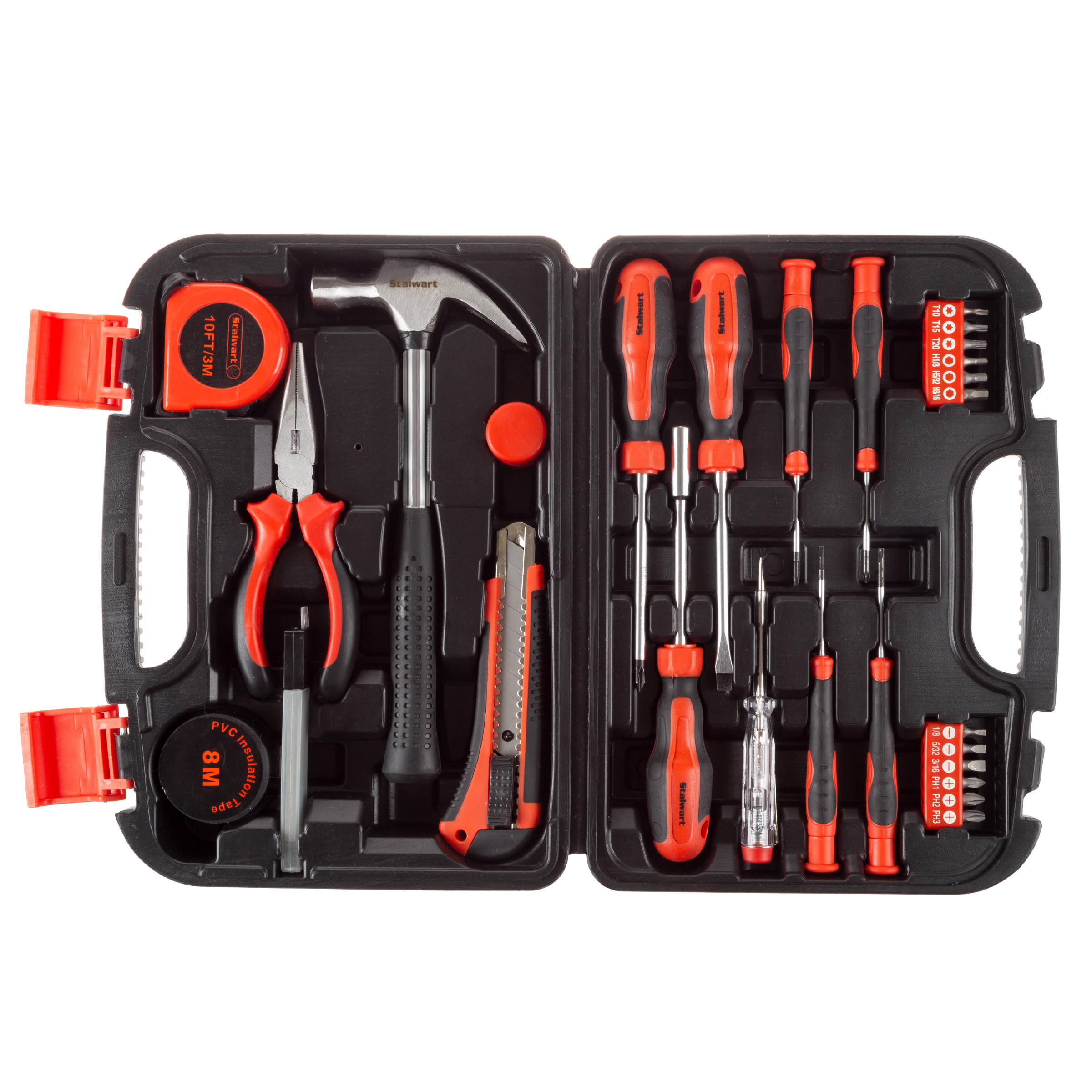 Tool Kit – 36 Heat-Treated Pieces with Carrying Case by Stalwart - Walmart.com