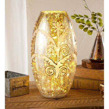 Hand-Painted Mercury Glass Vase, 7
