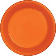 Sunkissed Orange Plastic Dessert Plates, 20-Pack