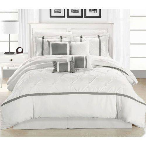 Veronica 8-Piece Embroidered Comforter Set