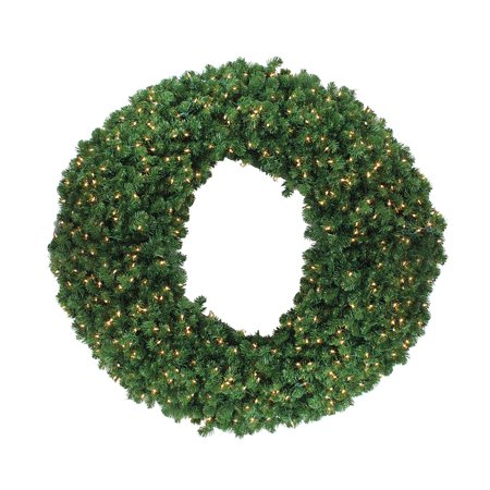 Pre-Lit Olympia Pine Artificial Christmas Wreath - 60 Inch Clear Lights ()