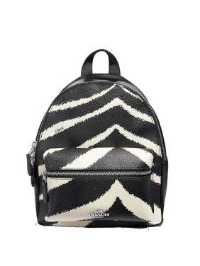8d22769c6f Product Image BRAND NEW WOMEN S COACH (F39033) MINI CHARLIE ZEBRA PRINT  BLACK BACKPACK BAG