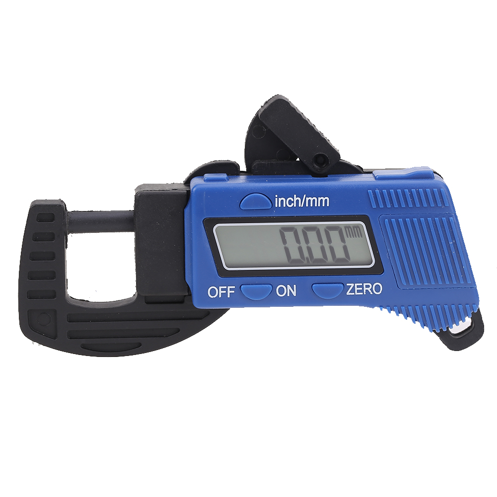 Precise LCD Digital Thickness Gauge Meter Tester Micrometer 0 to 12.7mm Portable