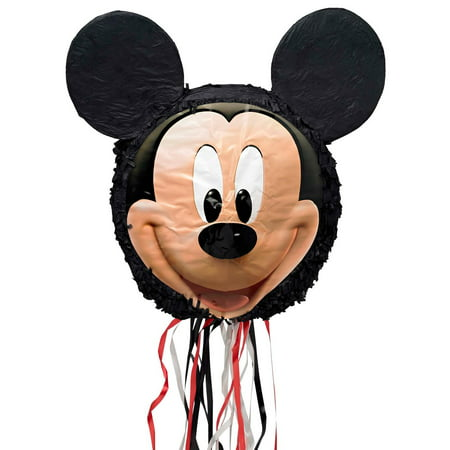 Disney Mickey Mouse 3D Pull-String Pinata - Baby Minnie Mouse 1st Birthday Pinata