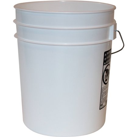 Argee 5 Gallon White Bucket, (5 Gallon Wash Bucket)