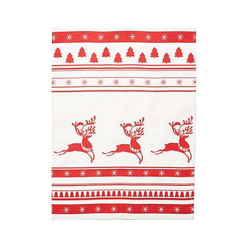 Mierco Holiday Reindeer Print Tea Towel (Set of 2)