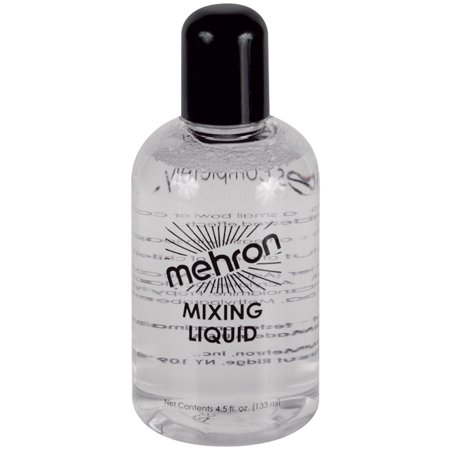 Mehron Mixing Liquid With Fixative Makeup 4.5oz FX Liquid, Clear for $<!---->