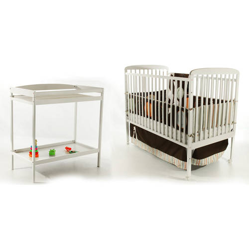 Dream On Me Anna 2-in-1 Full Size Crib and Changing Table, White
