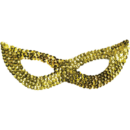 Sequin Cat Adult Halloween Mask Accessory