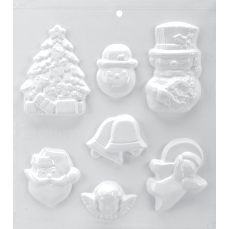 "Soapsations Soap Mold 8""X9""-7 Cavity - Christmas - image 1 de 1"
