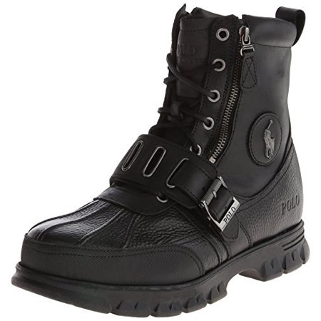 Polo Ralph Lauren Men's Andres III Boot, BlackBlack, 11.5 D US
