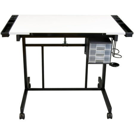 Studio Designs Deluxe Rolling Drafting Table Station