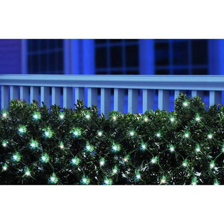 Holiday Time LED Net Christmas Lights Cool White, 150 Count ...