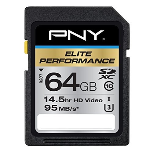 PNY 64GB Elite Performance SDXC 95MB/s Memory Card
