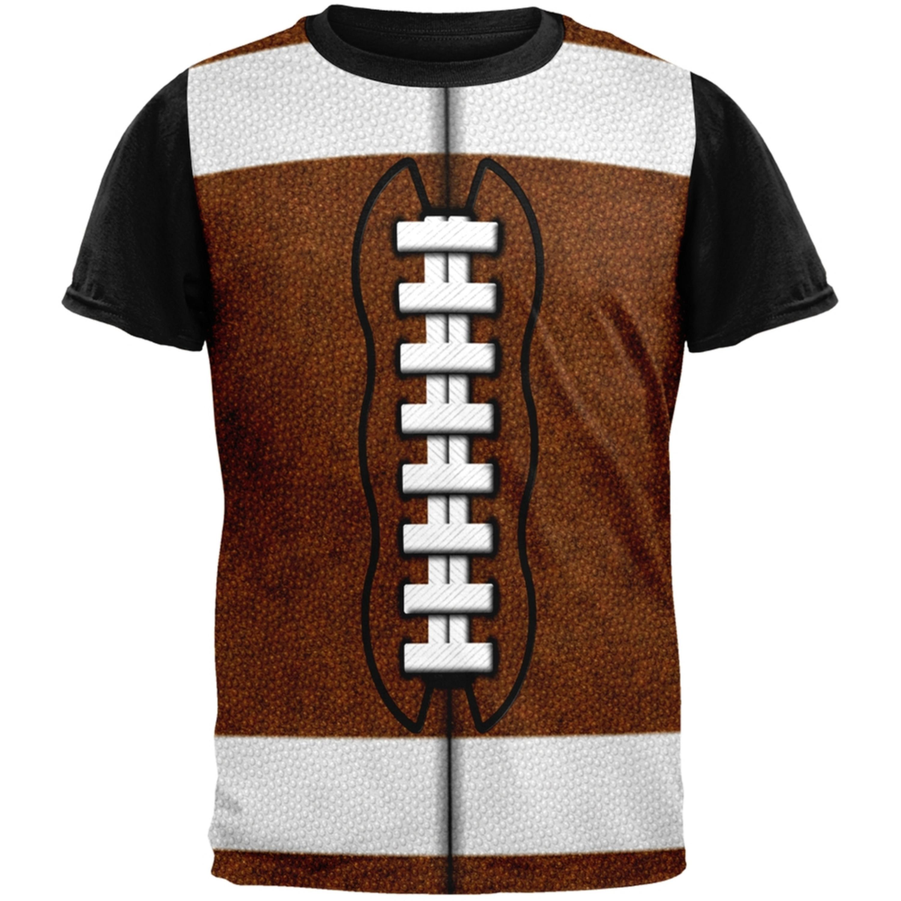 Football Costume Adult Black Back T-Shirt