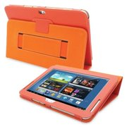 Snugg B00CMO7640 Galaxy Note 10. 1 Case Cover and Flip Stand, Orange Leather