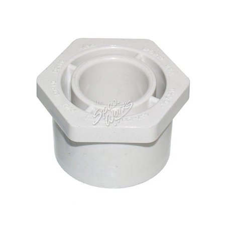 - Pvc 1 1/2 Inch X 3/4 Inch Slip X Spig Reducer Bushing 2 Pack 100517 -