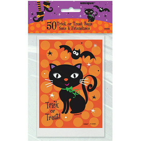 Spooky Boots Halloween Goodie Bags, 6 x 4 in, 50ct - Spooky Dishes Halloween Party