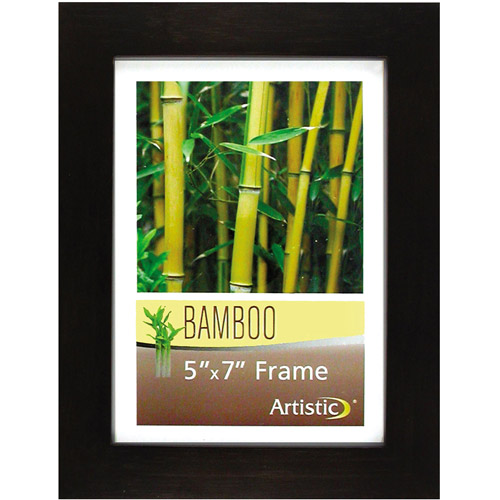 "Nu-Dell Bamboo Frame, 5"" x 7"", Black"