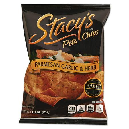 Pita Crisps (Stacy's Parmesan Garlic & Herb Pita Chips, 1.5 oz, 24)