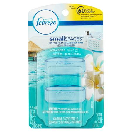 Febreze SmallSpaces Bora Bora Waters Refills Air Freshener (2 Count ...