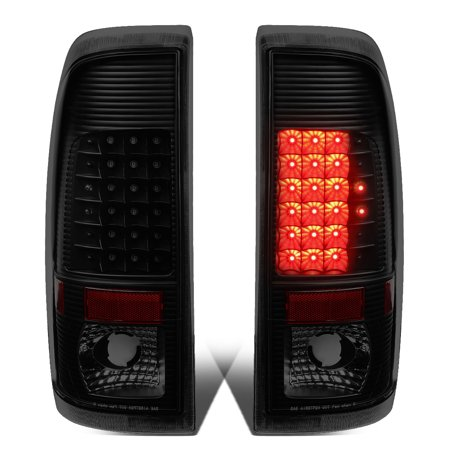Ford F550 Super Duty Tail (For 2008 to 2016 Ford F250 / F350 / F450 / F550 Super Duty Pair of LED Tail Brake Lights (Black Housing Smoked Lens) 15 14 13 12 11 )
