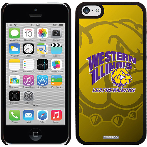 Western Illinois Watermark Design on iPhone 5c Thinshield Snap-On Case by Coveroo