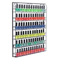 UBesGoo 6 Tier Nail Polish Display Rack Wall Mount Holder Lipstick Organizer Metal for Cosmetic Makeup