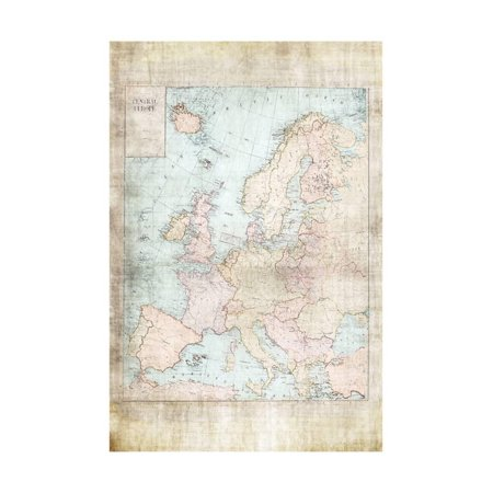 Central Europe Map WWII Print Wall Art By Ramona Murdock