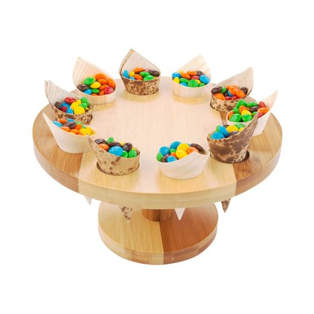 Cone Stand - Round Natural Bamboo Cone Stand - 7 1/2