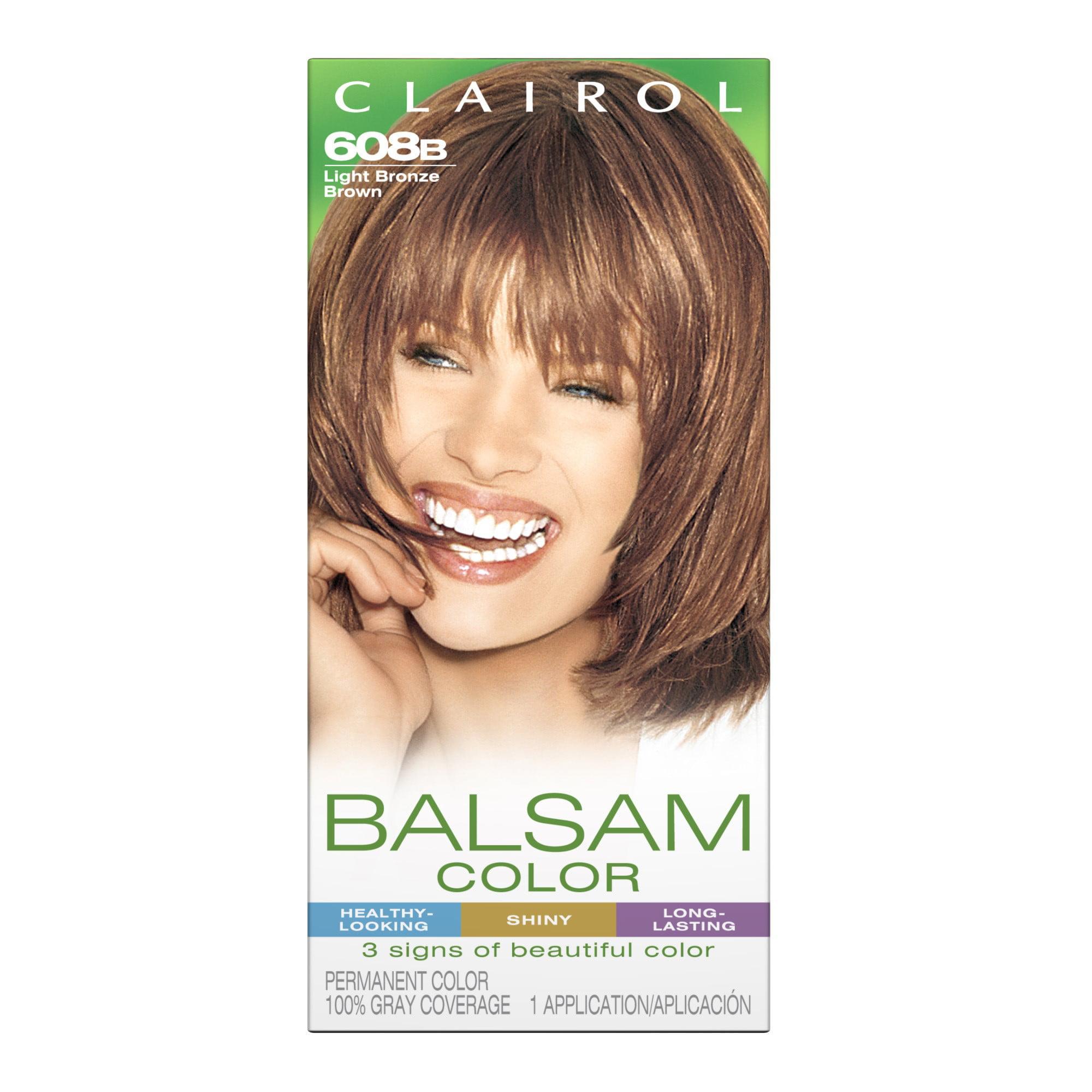 Clairol Balsam Hair Color 608b Light Bronze Brown 1 Kit Walmart