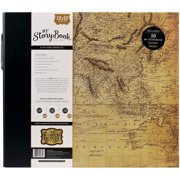 """My Story Book 3-Ring Album Photo Journal 12""""X12""""-Old World Travel"""