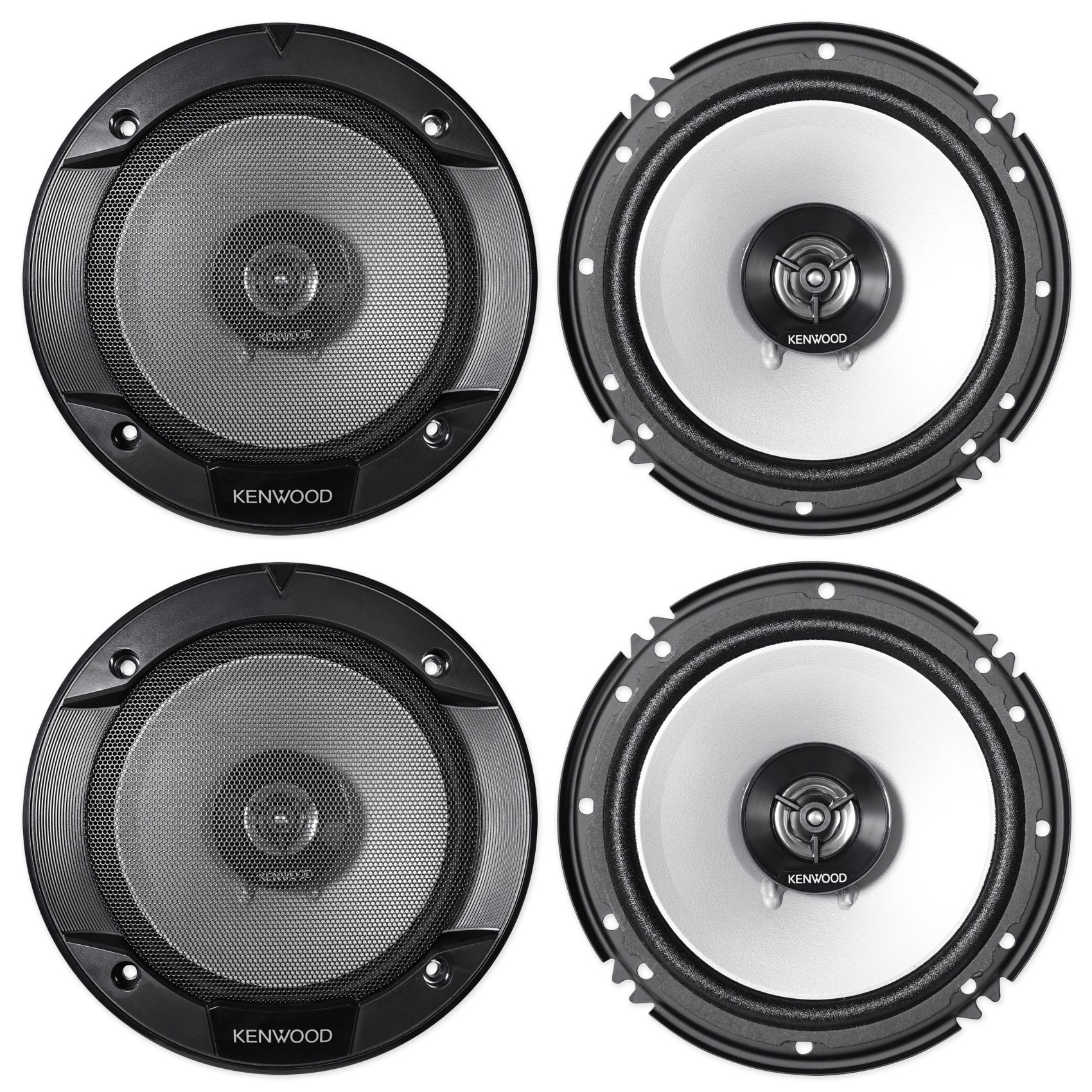 """Kenwood 6.5"""" Front+Rear Speaker Replacement For 2003-2008 INFINITI FX35 FX45"""