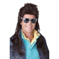 80's Rock Mullet Costume Wig (Brown)