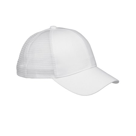 Branded Big Accessories 6-Panel Structured Trucker Cap - WHITE - OS (Instant Saving 5% & more on min 2) (White Structured Cap)