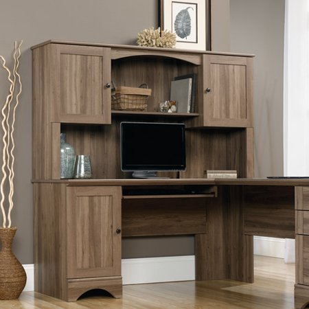 Sauder harbor view hutch salt oak for Furniture oak harbor