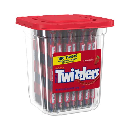 - Twizzlers, Strawberry Twists Candy Canister, 57.5 Oz.