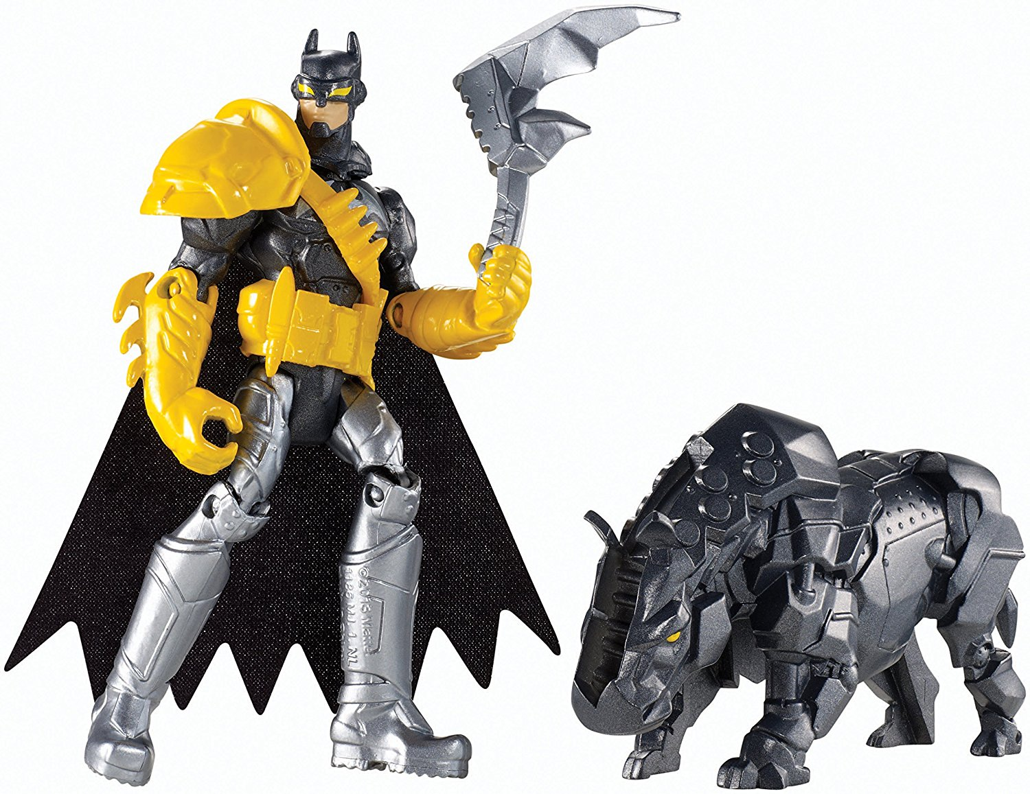 Batman Unlimited: Batman and Axe Rhino Action Figures, Batman and Axe Rhino are ready to... by