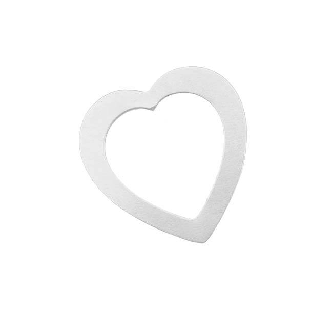 Sterling Silver Large Open Heart Blank Stampings 30x29mm 22 Gauge Thick (1)