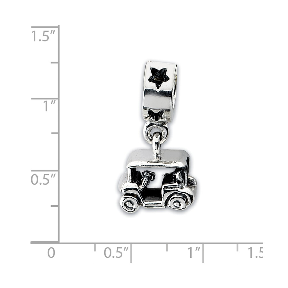 FB Jewels Solid 925 Sterling Silver Gold-Plated Reflections Floral Spacer Bead