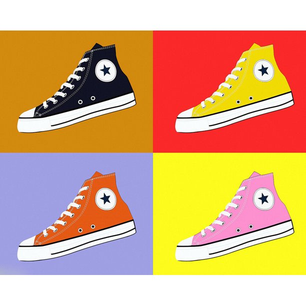 Converse AllStar Pop Art Warhol - CANVAS OR PRINT WALL ART