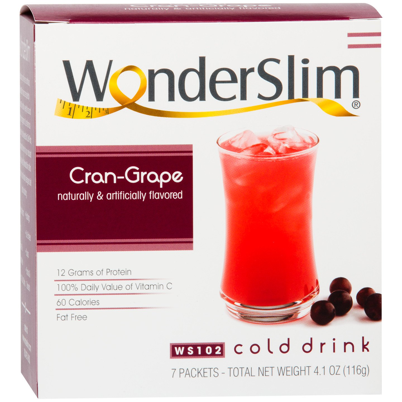 Wonderslim Low Carb High Protein Powder Diet Fruit Drink 12g Protein Cran Grape 7 Servings Box Low Carb Low Calorie Fat Free Cholesterol Free Walmart Com Walmart Com