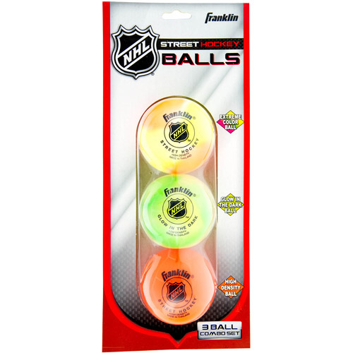 Franklin Sports NHL Street Hockey Ball Combo, 3-Pack