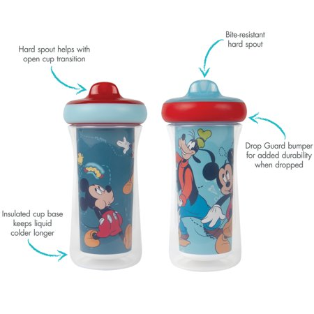 Disney Mickey Mouse Insulated Sippy Cup 9 Oz - 2pk